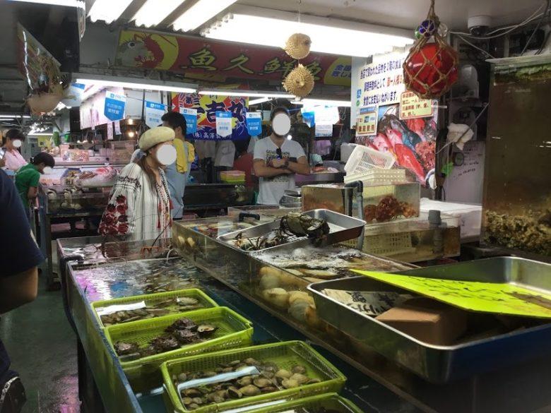 那覇市牧志公設市場が建て替えの為、移転する前の現在の市場