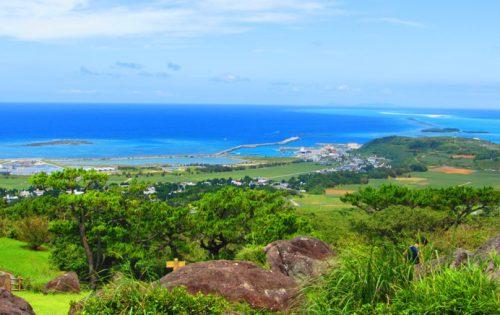 久米島の絶景スポット登武那覇城跡