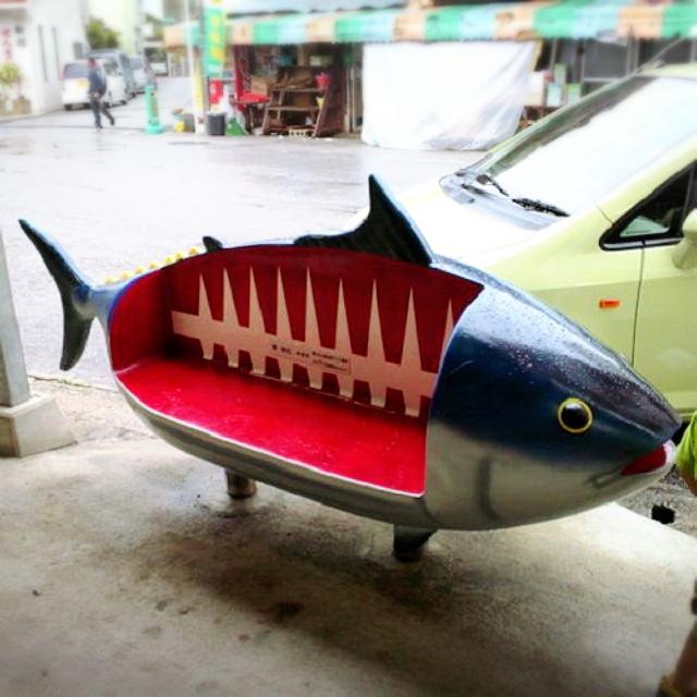 カツオのぼりが泳ぐ美ら海水族館のある本部町はカツオだらけ