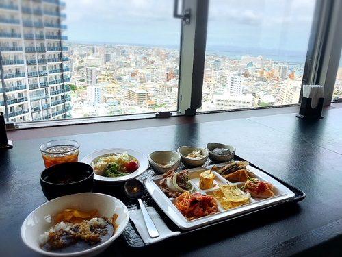 18階から望む那覇の景色と海!1000円ランチはダイワロイネットホテル