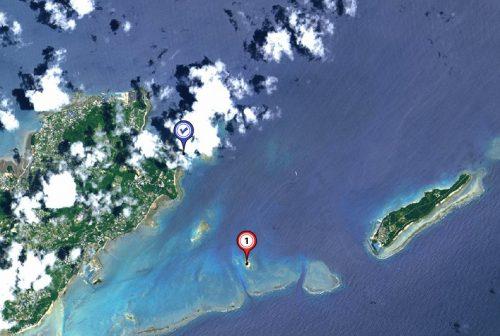 知念海洋レジャーセンターから15分、無人島コマカ島