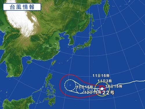 台風に強い沖縄の赤瓦。台風の名前は「ヤギ」