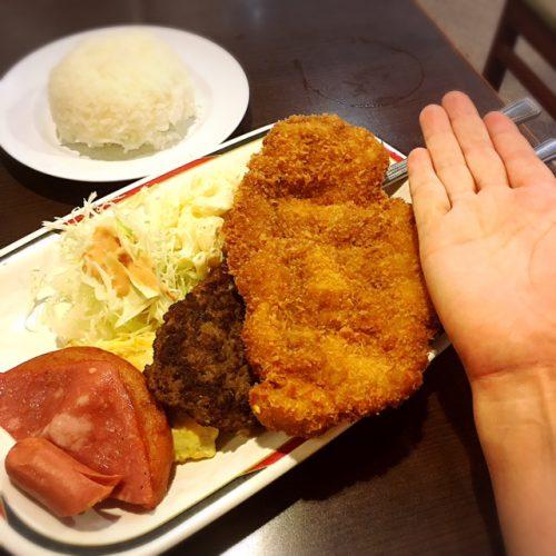 那覇市デカ盛りグルメ、あなたは挑戦する?軽食の店ルビーのAランチ