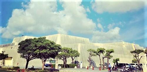 沖縄の個性的でカッコいい巨大な建築物沖縄県立博物館