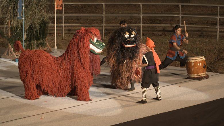 沖縄の秋祭り2019の全島獅子舞