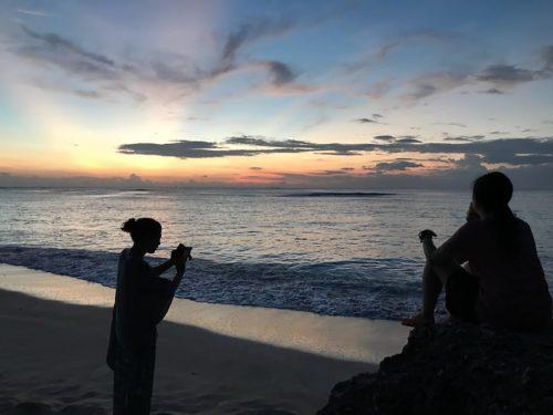 八重山諸島めぐり~日本最南端の波照間島ニシ浜ビーチの夕日