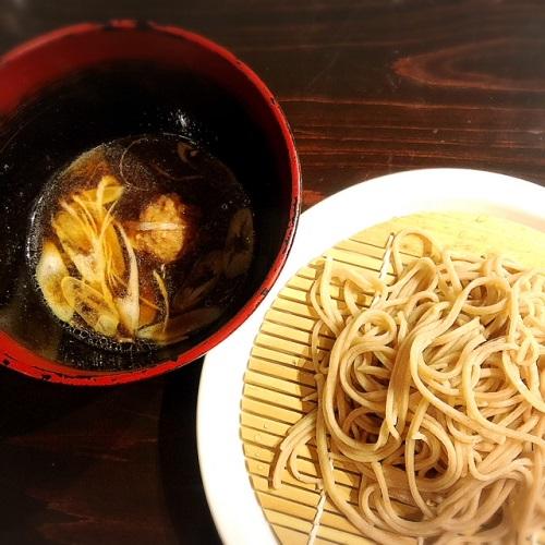 浦添市の「蕎麦と肴処 和ノ実」で、鴨南蛮蕎麦で〆