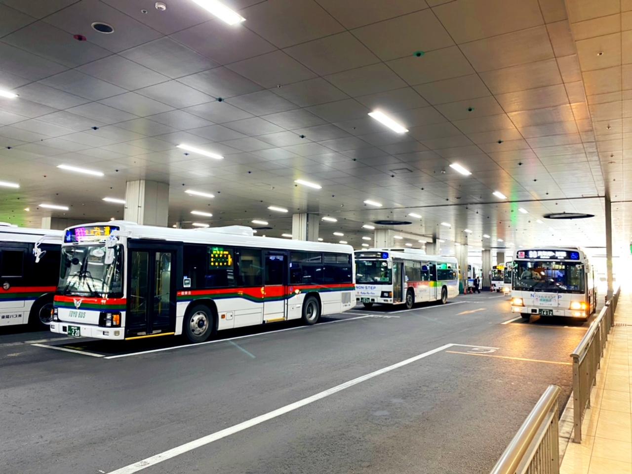 那覇バスターミナルは青の乗り場から沖縄本島各地へ!