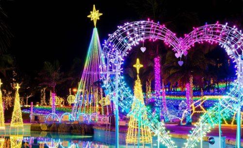 沖縄ではクリスマスから春までイルミネーションがすごい!!