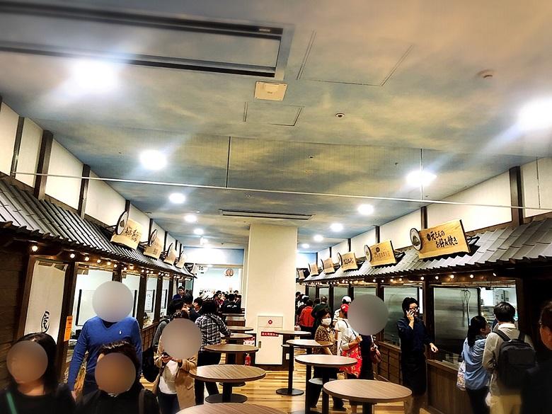 琉球王国市場プレオープン、飲食店の数々