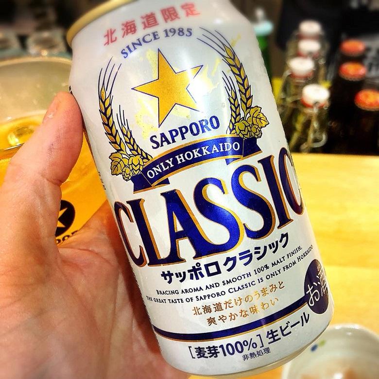 那覇・立ち飲みでサッポロクラッシックと沖縄おでん「酔処 玉川」