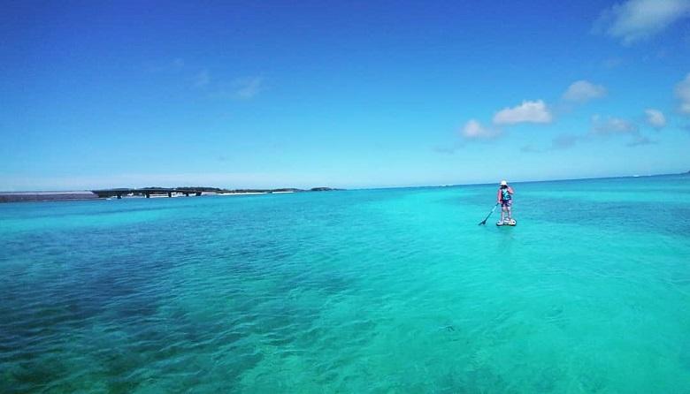伊平屋ヴィレッジトレイルRUN&ウォーク、伊平屋島の海