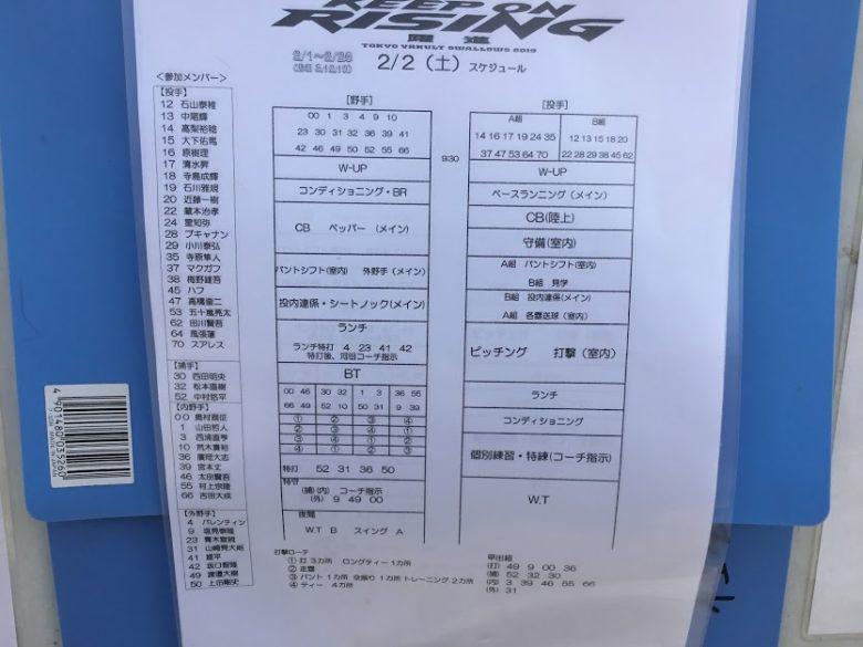 プロ野球沖縄キャンプイン!浦添市のヤクルトキャンプ編詳細練習