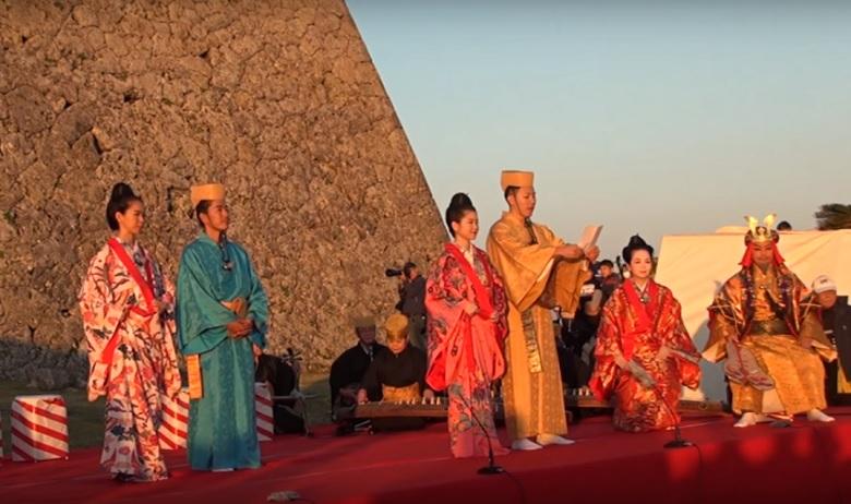 世界遺産の中城城跡「わかてだ(初日)」を見てエネルギーチャージ
