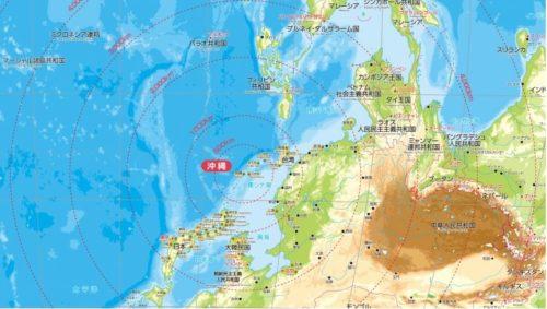 沖縄が中心の地図&カレンダー「アジアからの視点カレンダー」