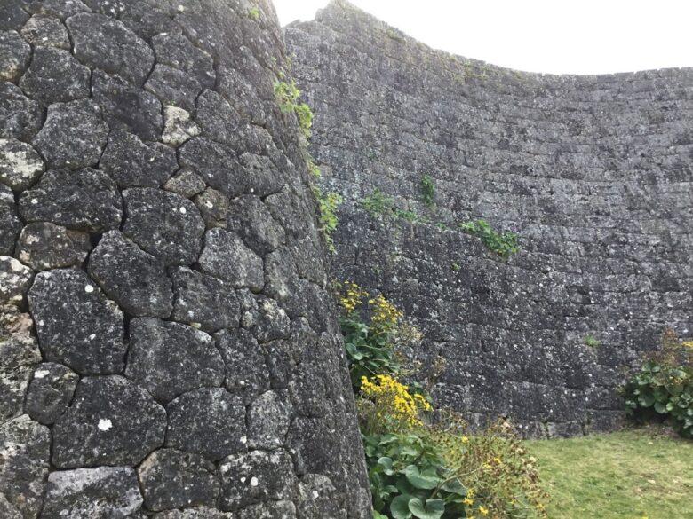 世界遺産中城城跡の石積み