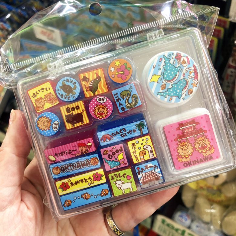 沖縄土産セレクション、これは子供向けのスタンプ