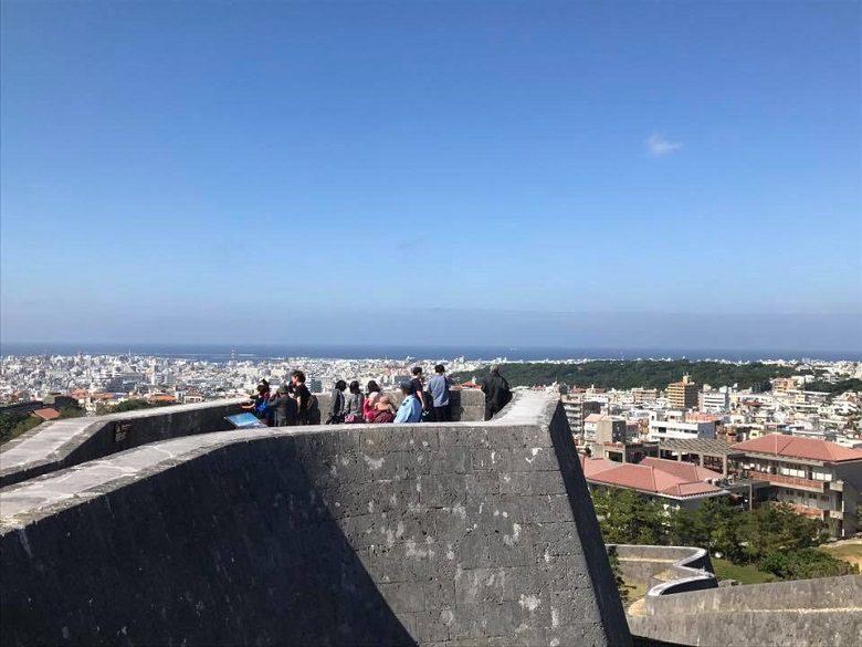 首里城の大奥「御内原」エリアから見る東のアザナ