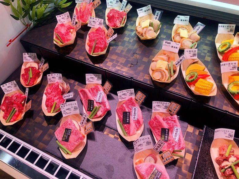 琉球王国市場の肉屋はステーキ1,000円