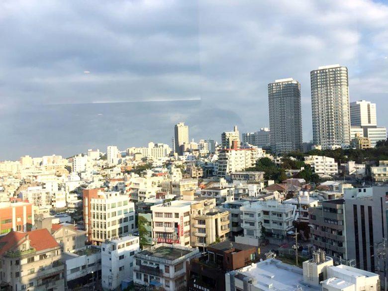 ホテルオーシャン那覇国際通りの朝食会場からの眺めが抜群