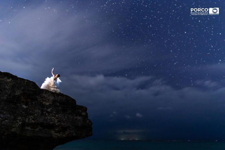 沖縄の満天の星空写真「島宙記念寫眞」