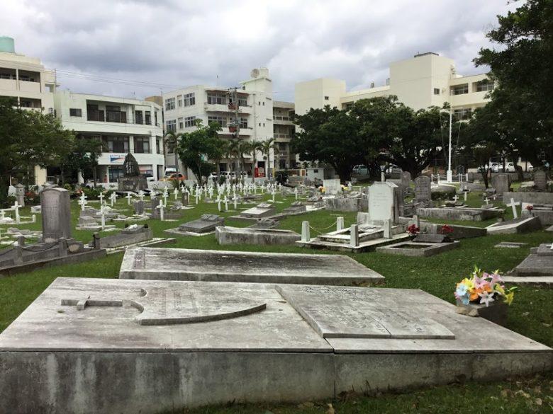 黒船ペリーは5度も沖縄上陸した場所の泊外人墓地