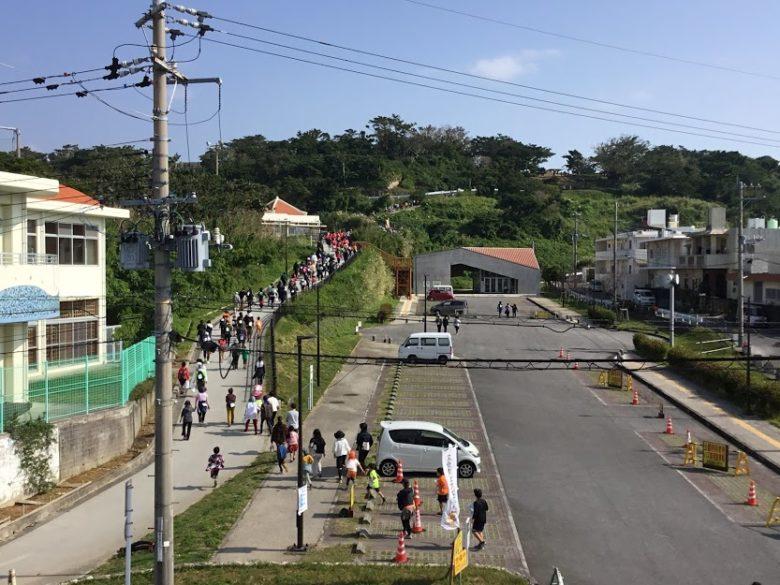 浦添城へ上る坂道