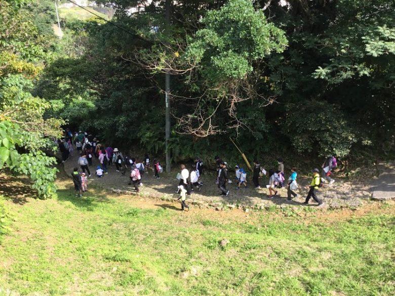 浦添城の当山の石畳道