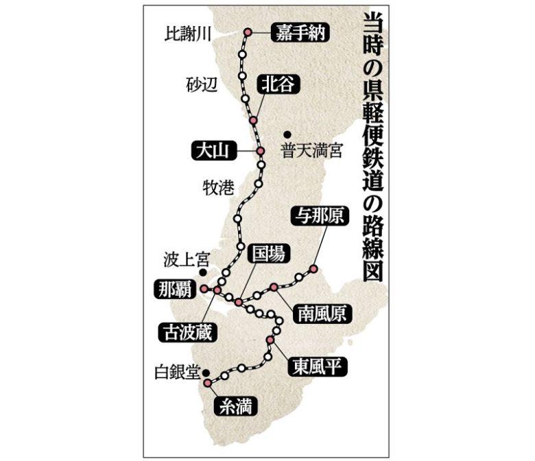沖縄・軽便鉄道与那原駅舎資料館から硬券キップで出発