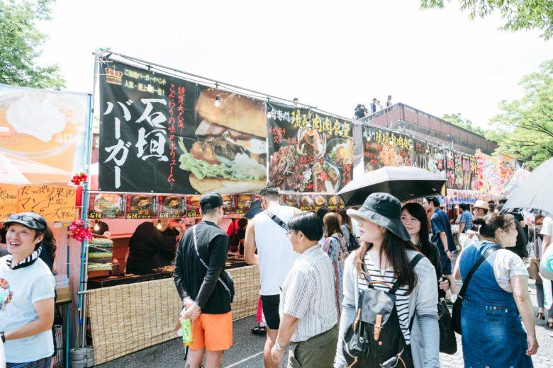 沖縄祭りには沖縄FOOD屋台がたくさん出店