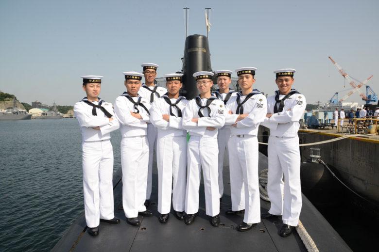 海上自衛隊「護衛艦しまかぜ」中城湾で2年ぶりの一般公開