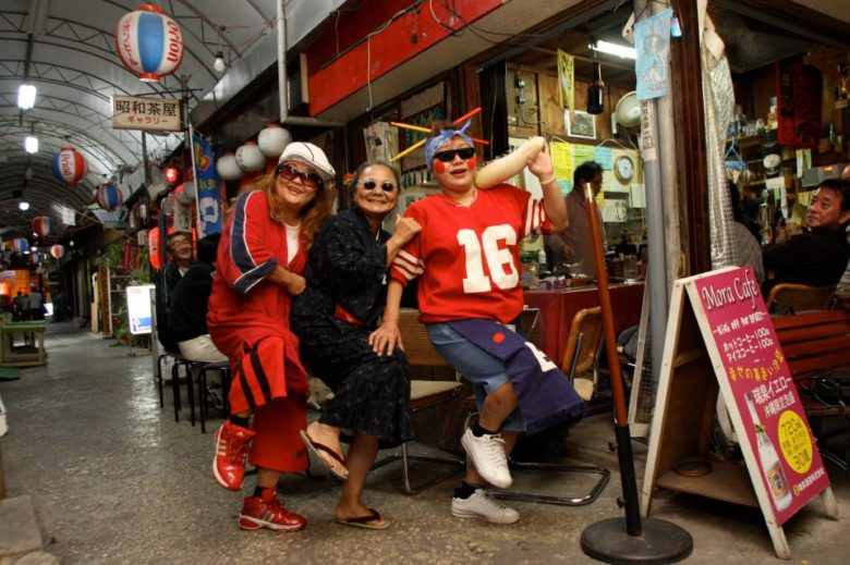栄町ではしごフェス開催!「栄町市場屋台祭り」おばぁラッパーズ