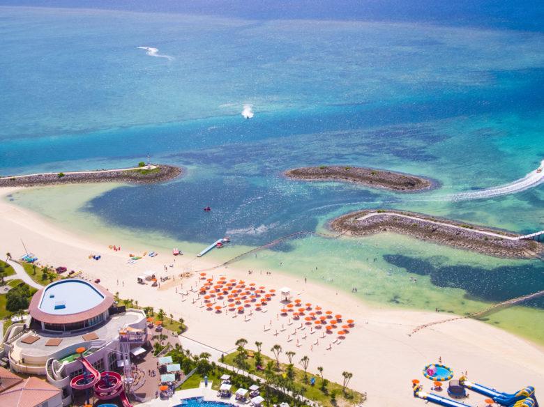 ANAのCMロケ地になったシェラトン沖縄さんアリーナリゾートの美しいビーチ
