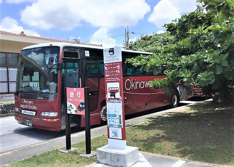沖縄の移動手段のバスでナビービーチへ。BBQもできる