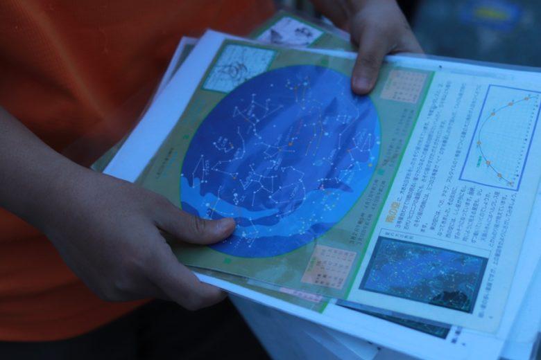 やんばる国立公園エコツアーで配布された天文マップ
