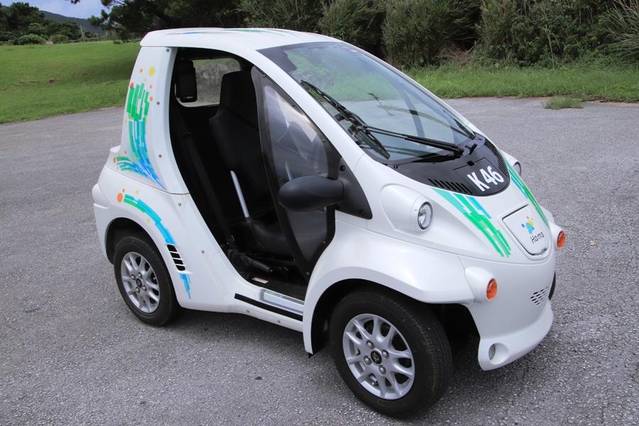 久米島を一人乗り電気自動車で廻ろう!「久米島ハーモ」