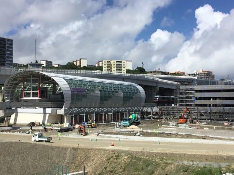 ゆいレール延長終着駅のてだこ浦西駅です。