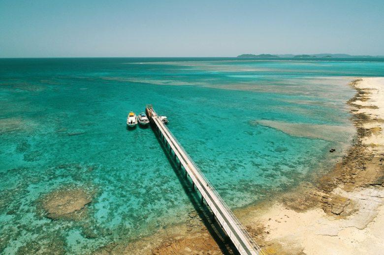 沖縄離島の楽園ビーチ5選ナガンヌ島船着き場