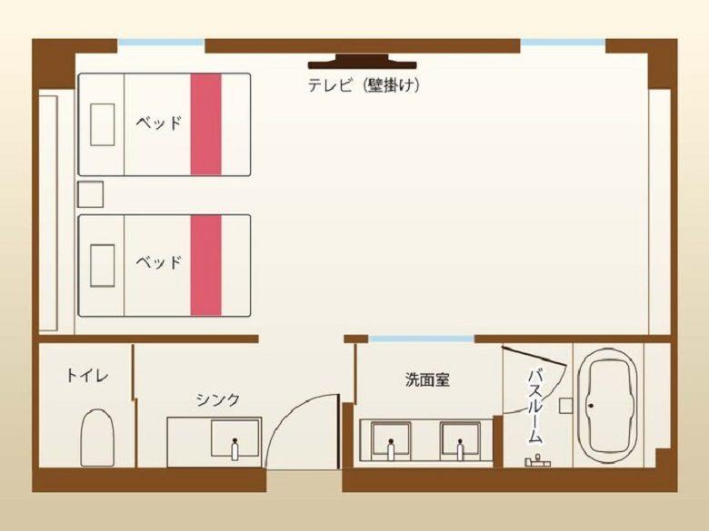 ホテル沖縄withサンリオキャラクターズのジュニアスィート平面図