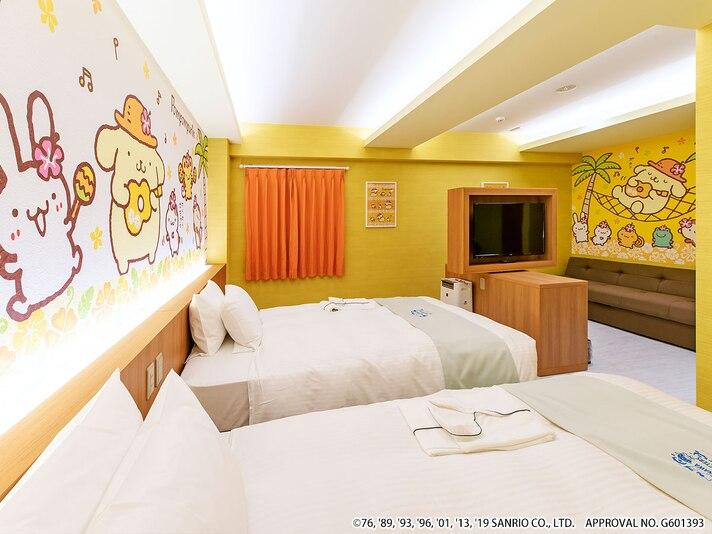 ホテル沖縄withサンリオキャラクターズの1室