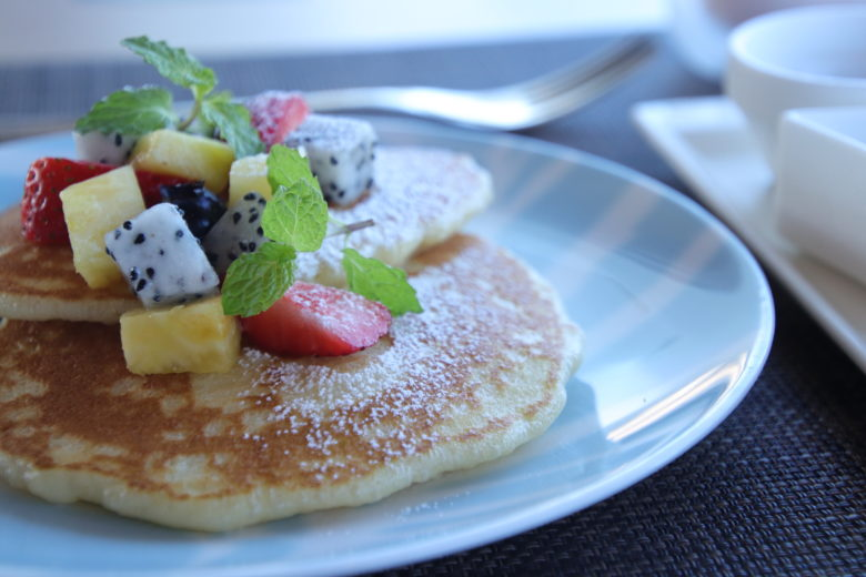 ANAインターコンチネンタル万座ビーチリゾートの朝食パンケーキ