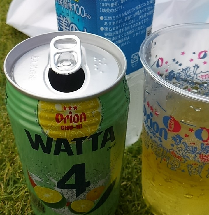 久米島マラソンの後はビールも酎ハイもいただきます。