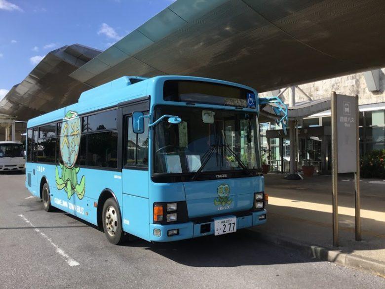 久米島空港発着の町民バス