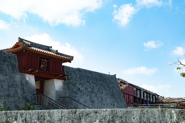 首里城は日本100目上の一つ上の毛