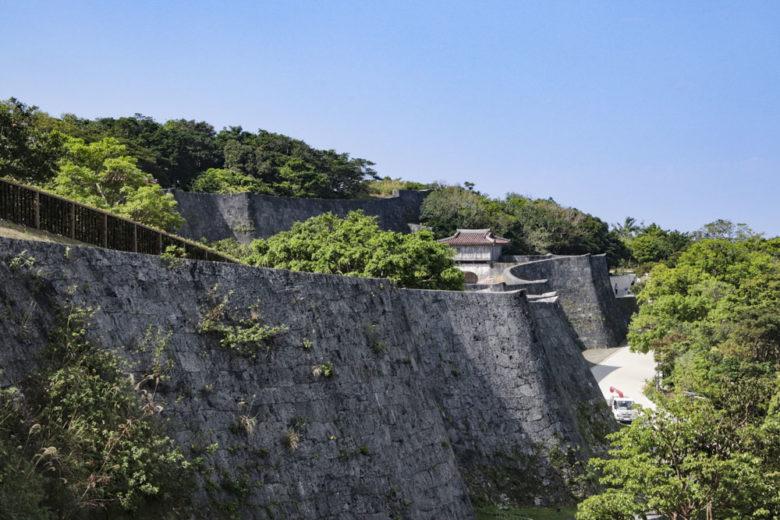 日本100名城・首里城上の毛城壁