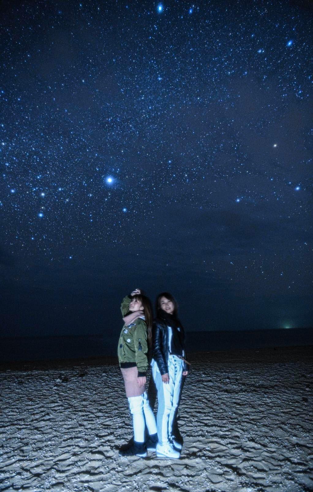 久米島の星空撮影はアーラ浜