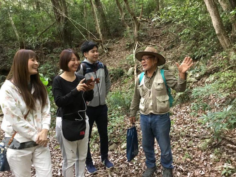 久米島の自然の中を歩くニブチの森散策