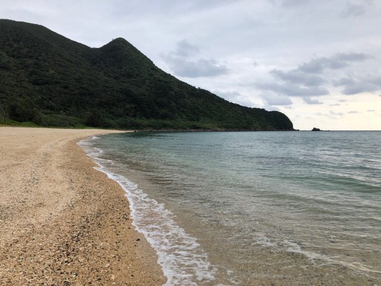 久米島の星空撮影現場のアーラ浜
