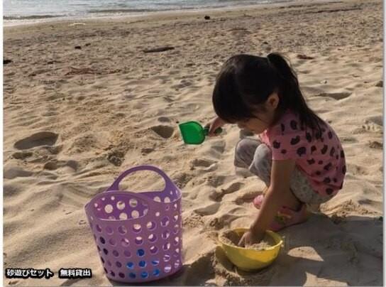 フクギテラスの砂遊びセット