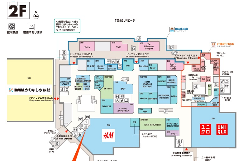 イーアス沖縄豊崎の平面図